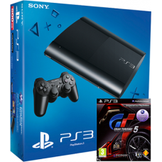 Sony PlayStation 3 Super Slim (12 GB) + диск Gran Turismo 5