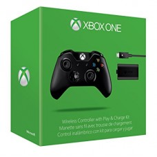 Xbox One Wireless Controller with Play and Charge Kit (Microsoft Official)