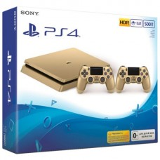 Sony Playstation 4 Slim 500GB Gold +DualShock 4 Gold Controller V2
